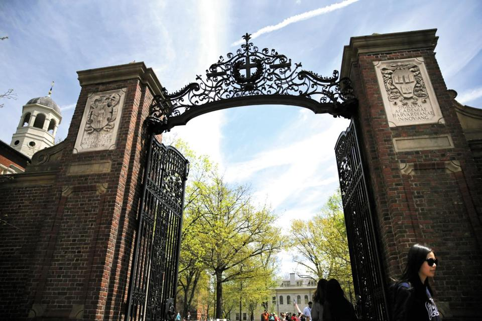 Cambridge, MA- May 04, 2017: The Johnston Gate at Harvard Yard in Cambridge, MA on May 04, 2017, MA on May 04, 2017. (Globe staff photo / Craig F. Walker) section: metro reporter: